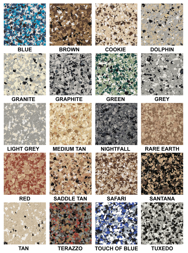 Windy City Coating Flake Epoxy Color Chart Windy City