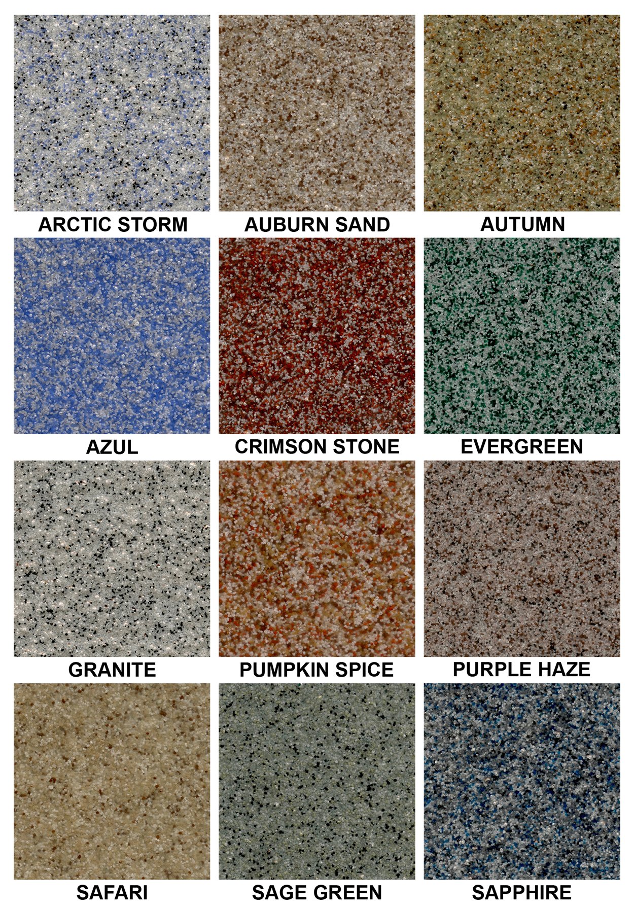 Windy City Coating Quartz Epoxy Color Chart